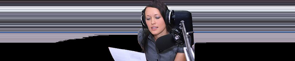 locutor de radio y doblaje