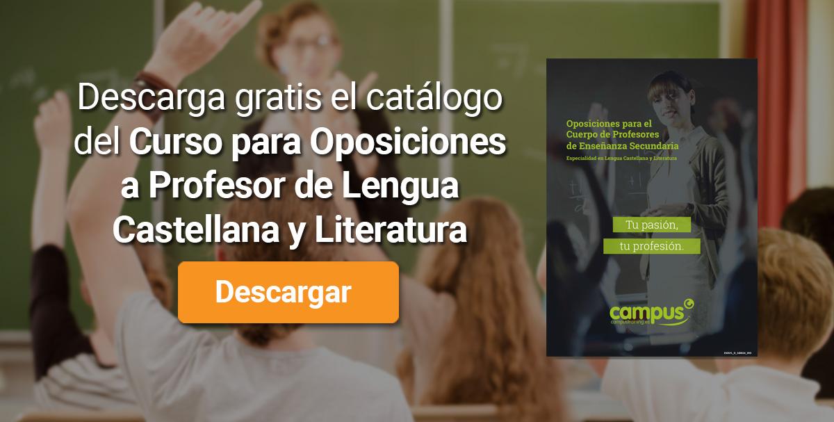 Descarga el catálogo para el curso: Oposiciones Profesor de Lengua y Literatura