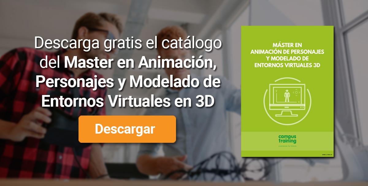 Banner del Máster en Animación, Personajes y modelado de entornos virtuales en 3D