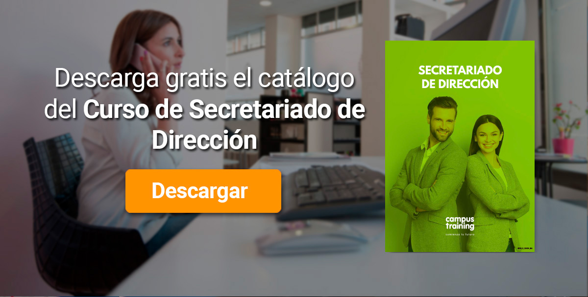 Descarga el catálogo para el curso: Curso de Secretariado de Dirección