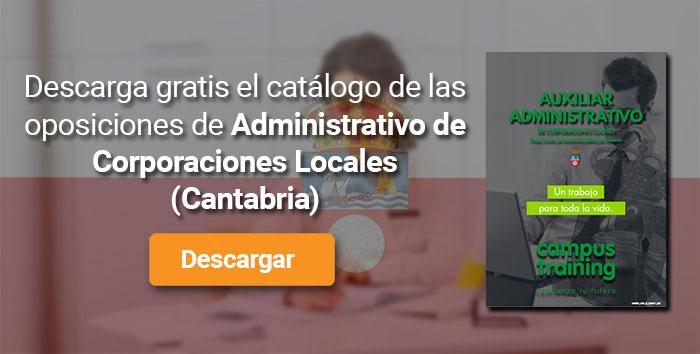 Descarga el catálogo para el curso: Oposiciones de Administrativo para Corporaciones Locales en Cantabria