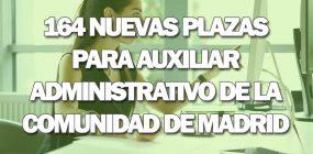 Convocadas 164 plazas de Auxiliar Administrativo de la Comunidad de Madrid
