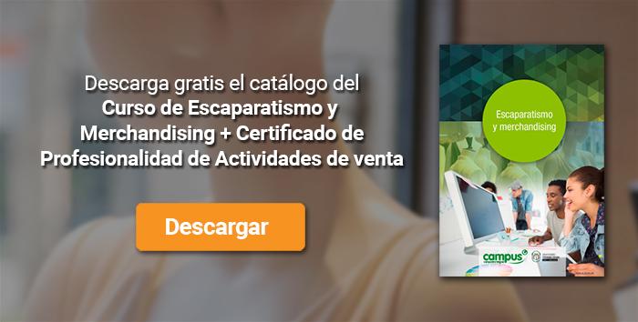 Descarga el catálogo para el curso: Curso de Escaparatismo y Merchandising + Certificado de Profesionalidad de Actividades de venta