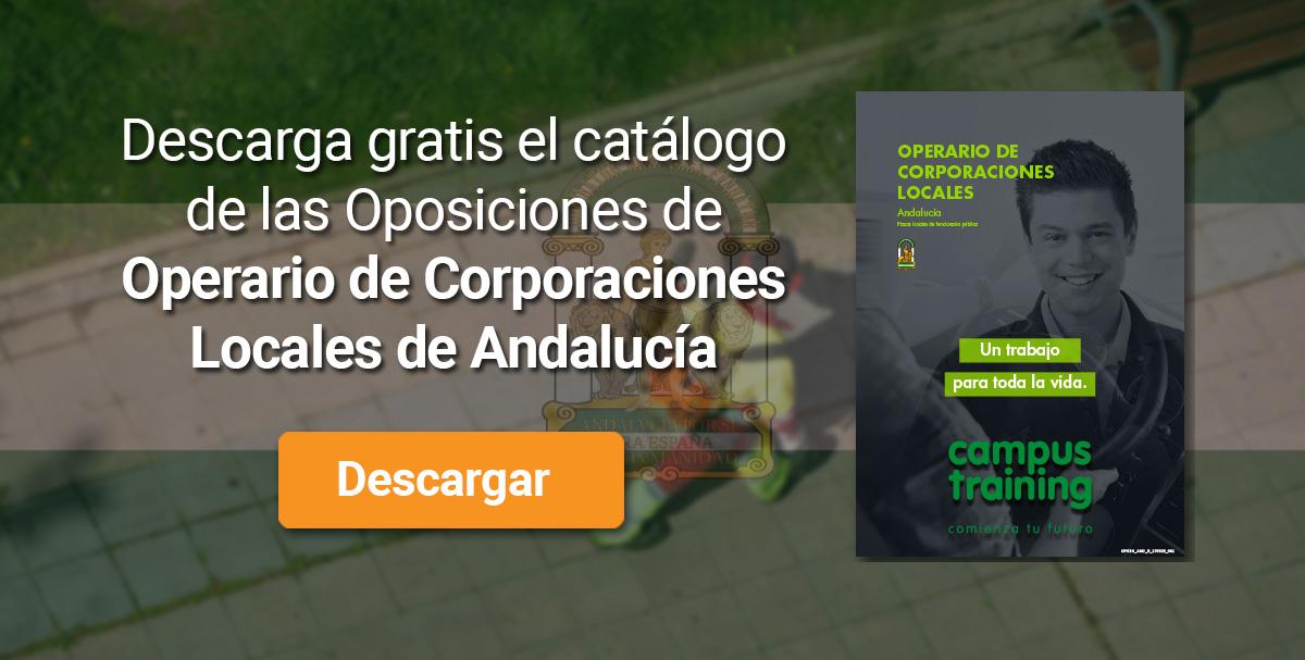 Descarga el catálogo para el curso: Oposiciones de Operario de Corporaciones Locales (Andalucía)