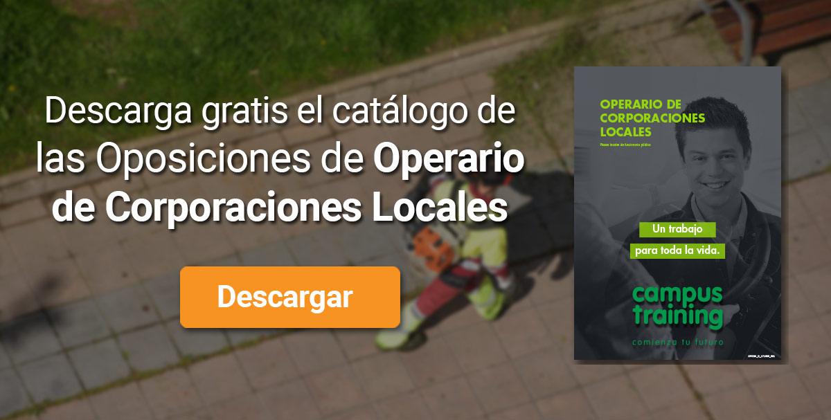 Descarga el catálogo para el curso: Oposiciones de Operario de Corporaciones Locales