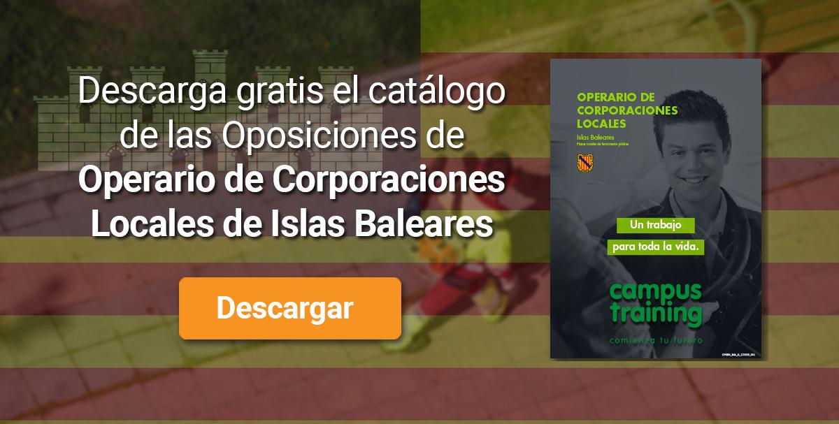 Descarga el catálogo para el curso: Oposiciones de Operario de Corporaciones Locales (Islas Baleares)