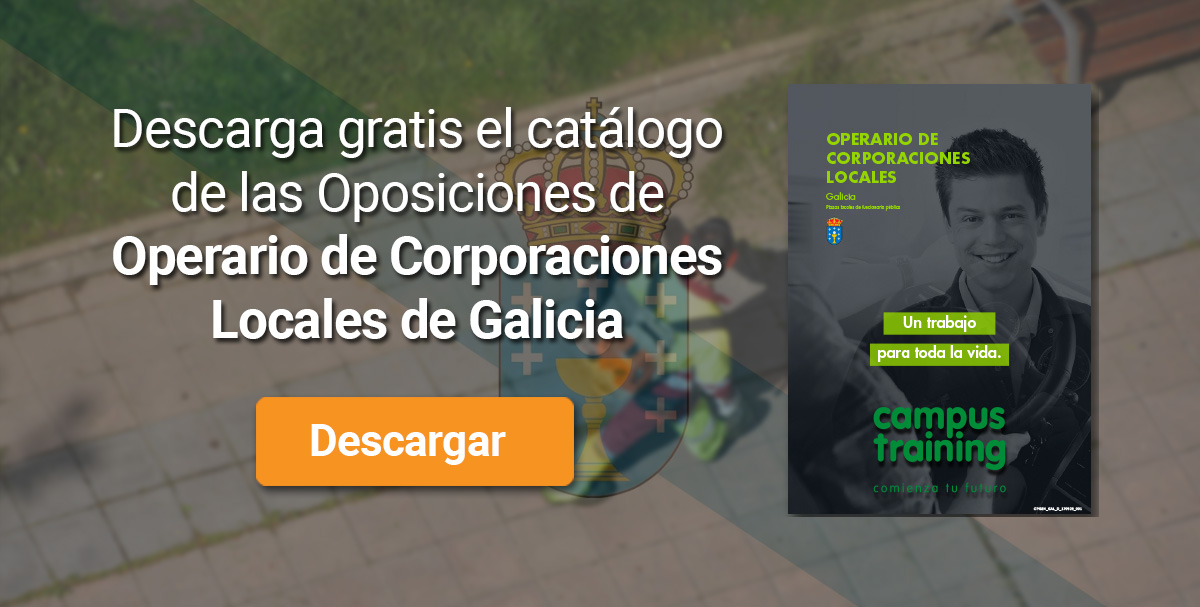 Descarga el catálogo para el curso: Oposiciones de Operario de Corporaciones Locales (Galicia)