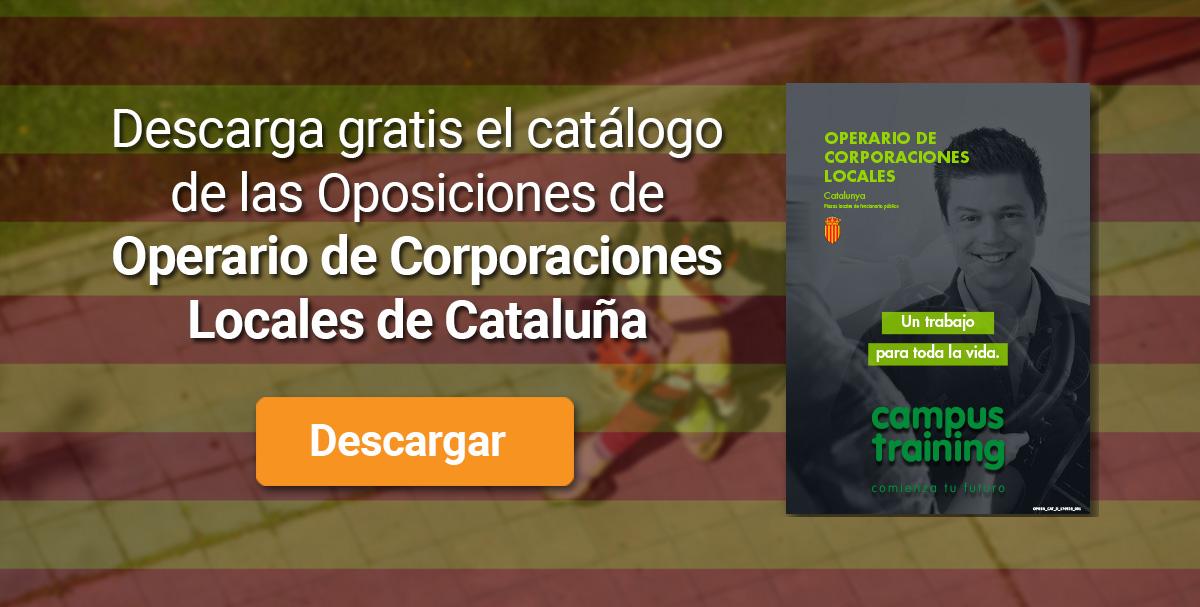 Descarga el catálogo para el curso: Oposiciones de Operario de Corporaciones Locales (Catalunya)