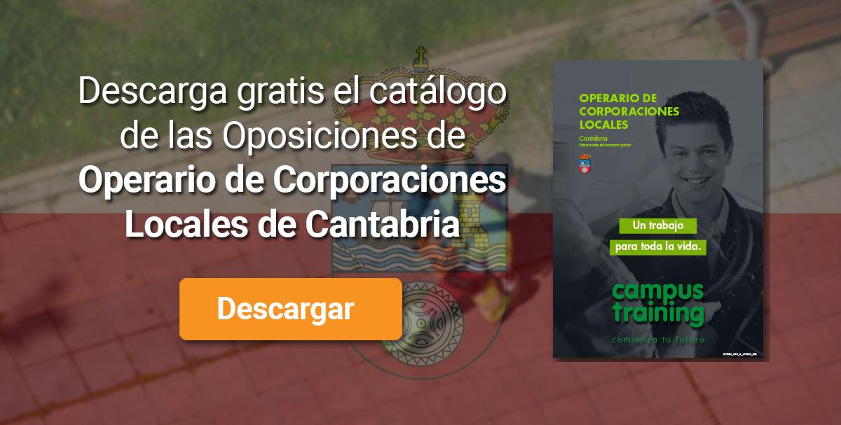Descarga el catálogo para el curso: Oposiciones de Operario de Corporaciones Locales (Cantabria)
