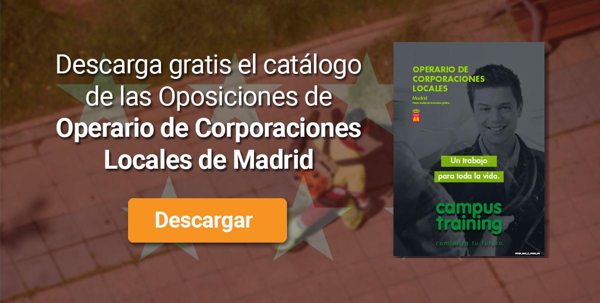 Descarga el catálogo para el curso: Oposiciones de Operario de Corporaciones Locales (Madrid)