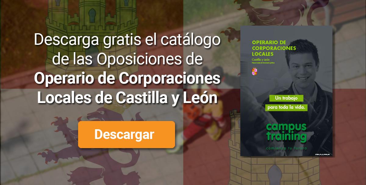 Descarga el catálogo para el curso: Oposiciones de Operario de Corporaciones Locales (Castilla y León)