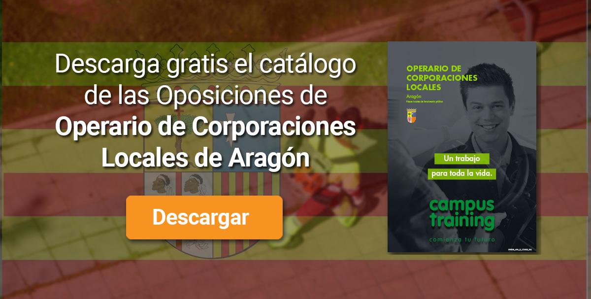 Descarga el catálogo para el curso: Oposiciones de Operario de Corporaciones Locales (Aragón)