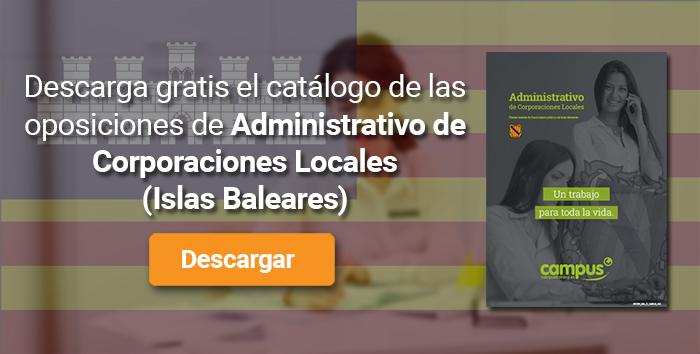 Descarga el catálogo para el curso: Oposiciones para Administrativo de Corporaciones Locales en Baleares
