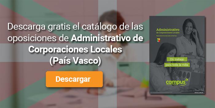 Descarga el catálogo para el curso: Oposiciones para Administrativo de Corporaciones Locales en el País Vasco
