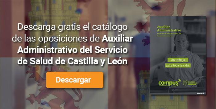 Descarga el catálogo para el curso: Oposiciones para Auxiliar Administrativo SACYL