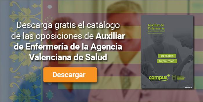 Descarga el catálogo para el curso: Oposiciones para Auxiliar de Enfermería en la Comunidad Valenciana