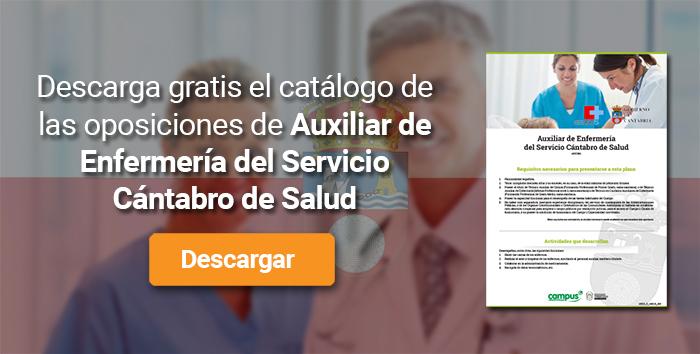 Descarga el catálogo para el curso: Oposiciones para Auxiliar de Enfermería en el Servicio Cántabro de Salud