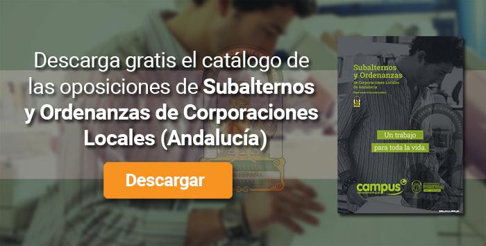 Descarga el catálogo para el curso: Oposiciones para Subalterno y Ordenanzas en Corporaciones Locales de Andalucía