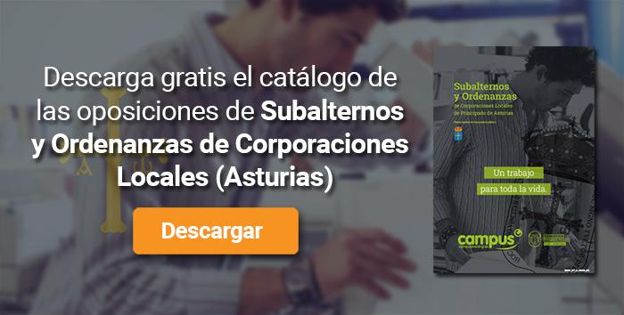 Descarga el catálogo para el curso: Oposiciones para Subalterno y Ordenanzas en Corporaciones Locales de Asturias