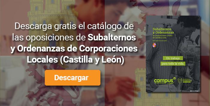 Descarga el catálogo para el curso: Oposiciones para Subalterno y Ordenanzas en Corporaciones Locales de Castilla y León