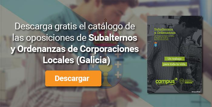 Descarga el catálogo para el curso: Oposiciones para Subalterno y Ordenanzas en Corporaciones Locales de Galicia