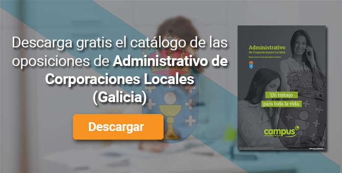 Descarga el catálogo para el curso: Oposiciones para Administrativo de Corporaciones Locales en Galicia