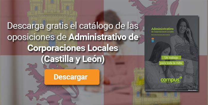 Descarga el catálogo para el curso: Oposiciones para Administrativo de Corporaciones Locales en Castilla y León