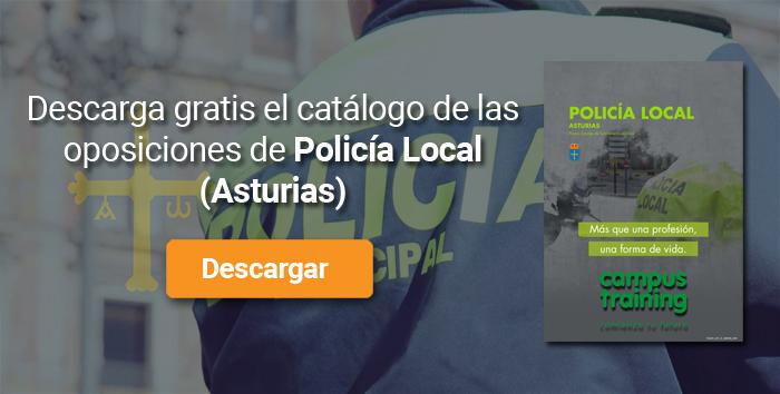 Descarga el catálogo para el curso: Oposiciones para Policía Local en Asturias