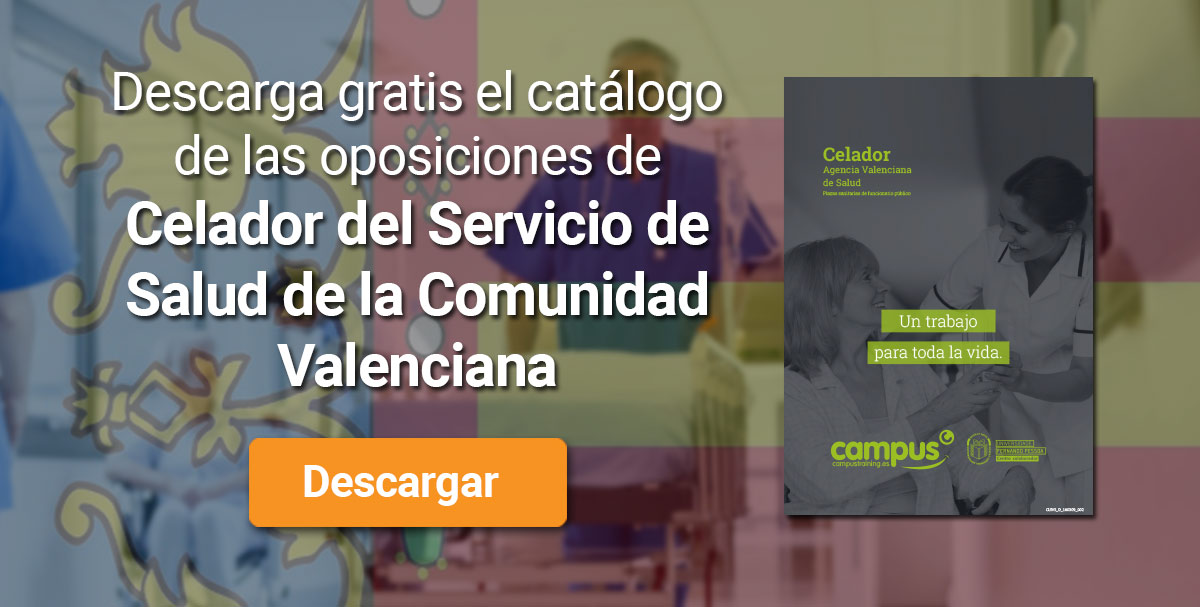 Descarga el catálogo para el curso: Oposiciones de Celador del Servicio de Salud de la Comunidad Valenciana