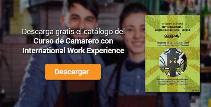 Descarga el catálogo para el curso: Camarero con International Work Experience