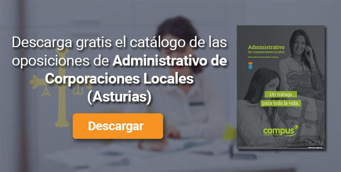 Descarga el catálogo para el curso: Oposiciones para Administrativo de Corporaciones Locales en Asturias
