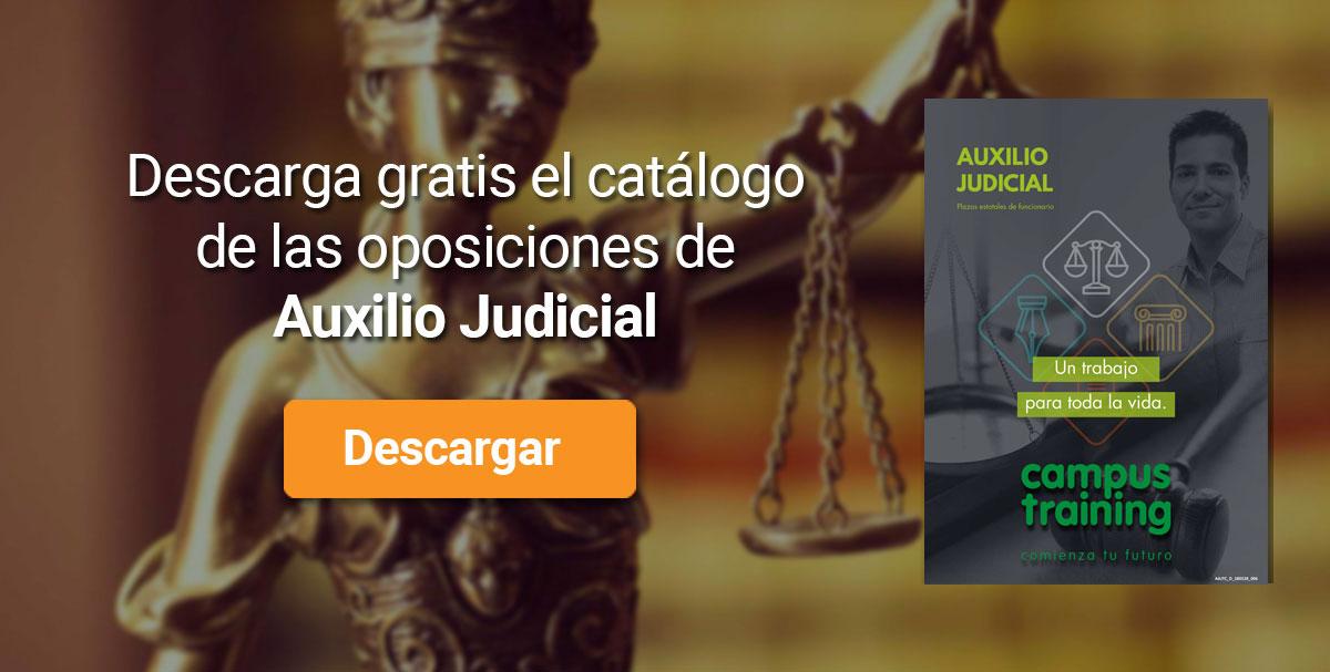 Descarga el catálogo para el curso: Oposiciones Auxilio Judicial