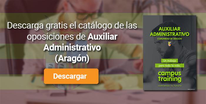 Descarga el catálogo para el curso: Oposiciones a Auxiliar Administrativo Aragón