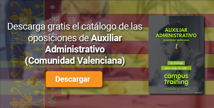 Descarga el catálogo para el curso: Oposiciones de Auxiliar Administrativo de la Generalitat Valenciana