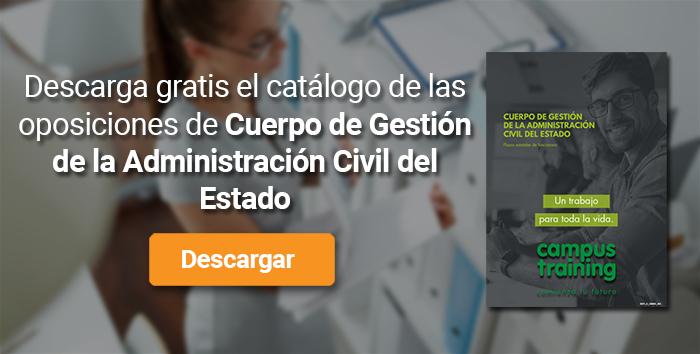 Descarga el catálogo para el curso: Oposiciones Cuerpo Gestión Administración Civil del Estado