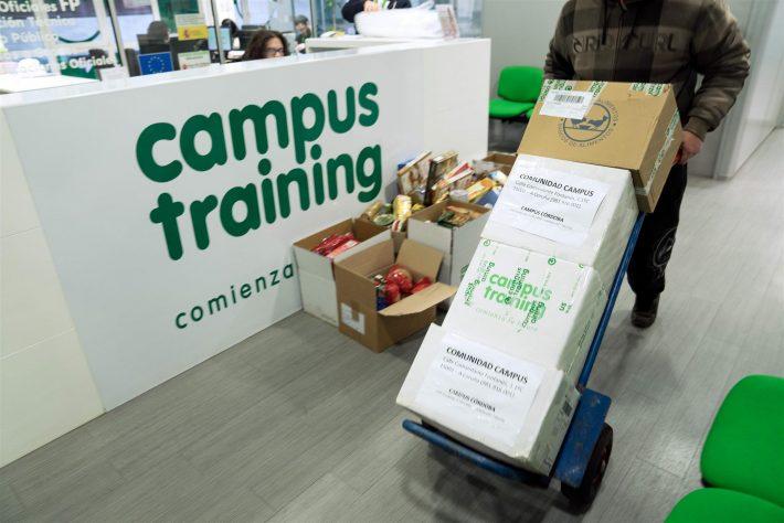 balrial, Campus Training entrega más de 500 kilos a la Federación Española de Bancos de Alimentos BALRIAL