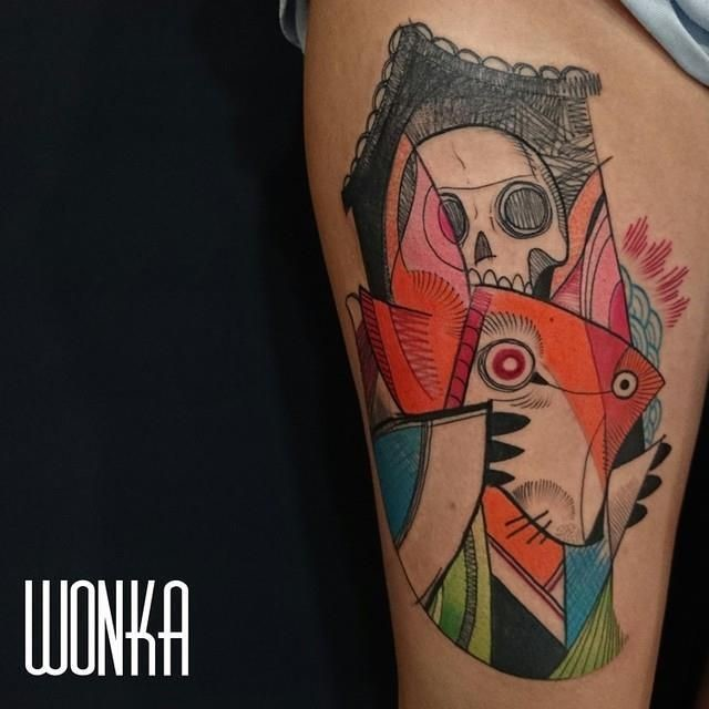 tatuajes cubismo - wonka