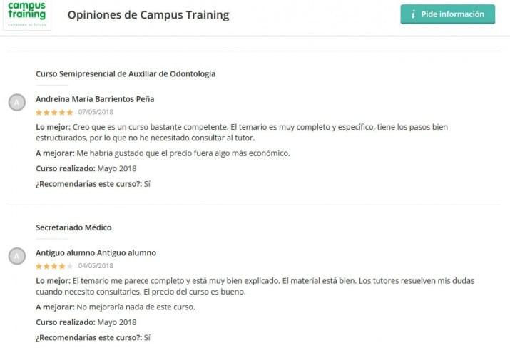 Campus Training opiniones foros, Campus Training opiniones foros
