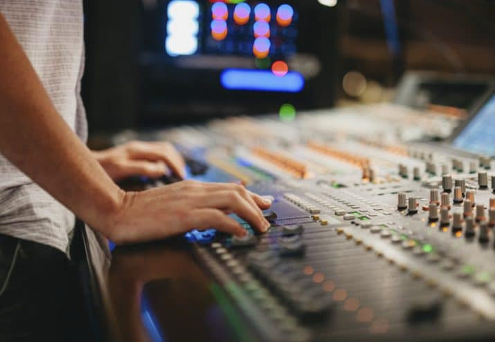 mesa producción musical